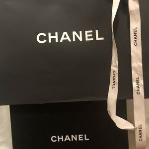 CHANEL Other - Chanel shoe box 📦 w/ 2 dust bags & shopping bag